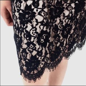 Banana Republic Black Lace Overlay Skirt NWT (55)